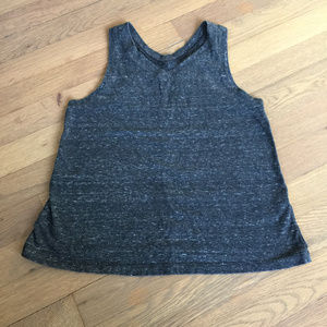 Girl M 10-12 Burnout Tank Racer Back Top Dark Gray